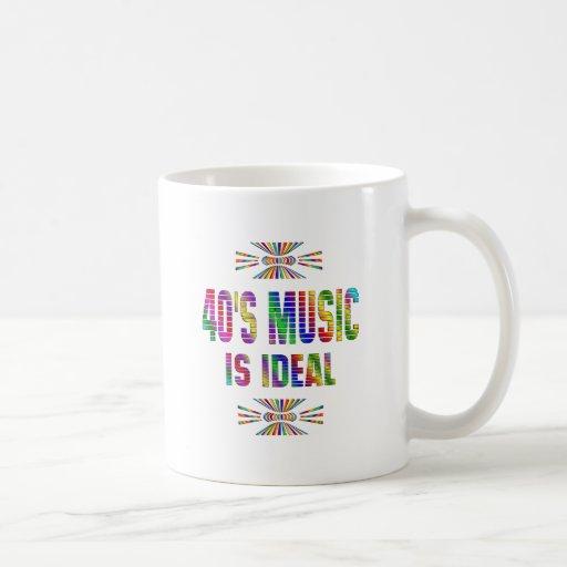 la música 40s es ideal tazas