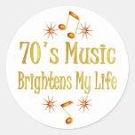 la música 70s aclara mi vida etiquetas redondas