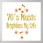 la música 70s aclara mi vida impresiones