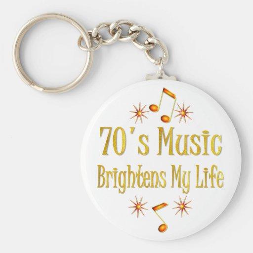 la música 70s aclara mi vida llaveros personalizados