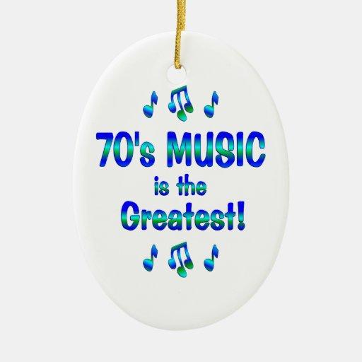 la música 70s es la más grande adorno ovalado de cerámica