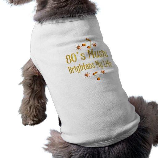 la música 80s aclara mi vida camisas de perritos