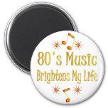 la música 80s aclara mi vida imanes de nevera