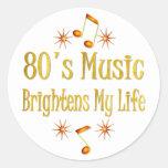 la música 80s aclara mi vida pegatinas redondas