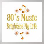 la música 80s aclara mi vida posters