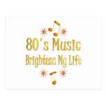 la música 80s aclara mi vida tarjeta postal