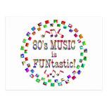 la música 80s es Funtastic Postal