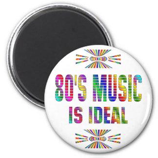 la música 80s es ideal imán de nevera