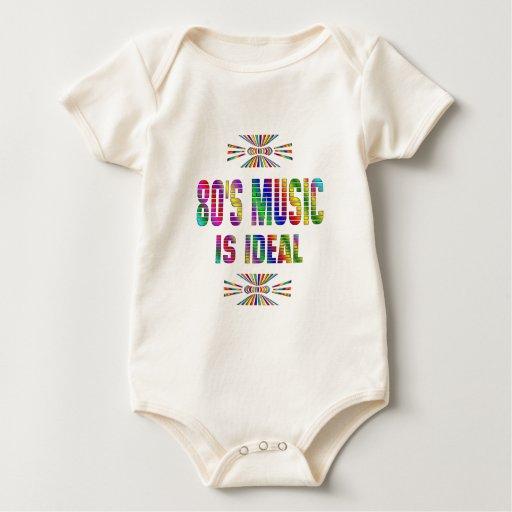 la música 80s es ideal trajes de bebé