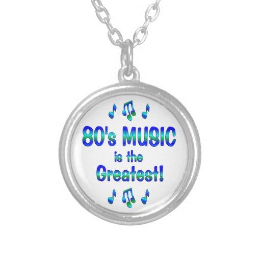 la música 80s es la más grande colgante redondo