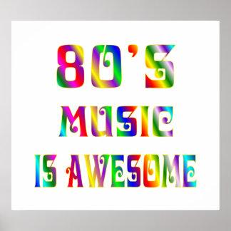 la música 80s es poster impresionante póster