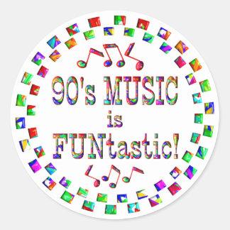 la música 90s es Funtastic Pegatina Redonda