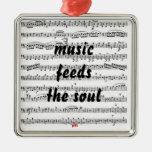 La música alimenta el alma adorno de reyes