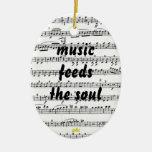 la música alimenta el alma adornos