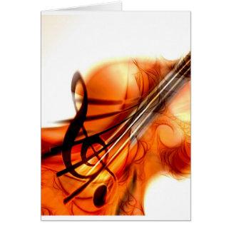 La música ató danza del destino del violín de los  tarjeta de felicitación