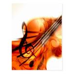 La música ató danza del destino del violín de los  tarjeta postal