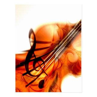 La música ató danza del destino del violín de los tarjetas postales
