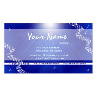 La música azul del resplandor solar observa tarjet tarjetas de visita