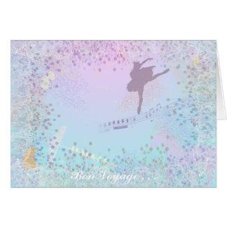 La música, ballet, caballo, gato, cumpleaños, tarjeta de felicitación