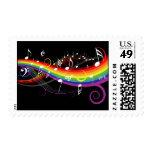 La música blanca del arco iris observa franqueo