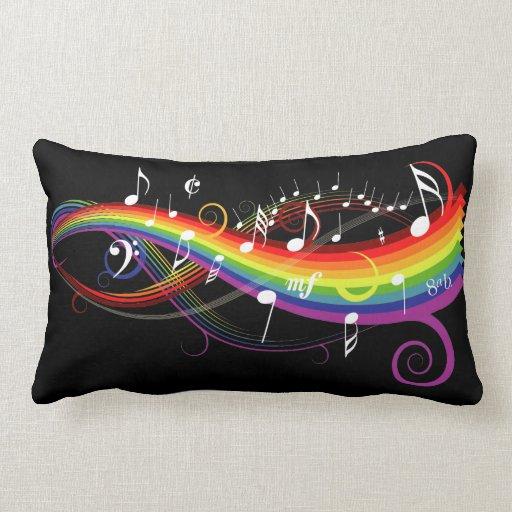 La música blanca del arco iris observa la almohada
