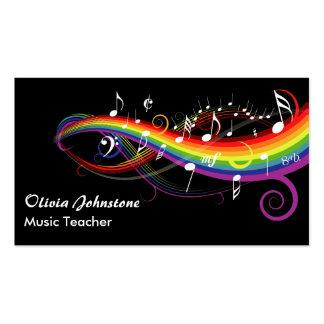 La música blanca del arco iris observa tarjetas de
