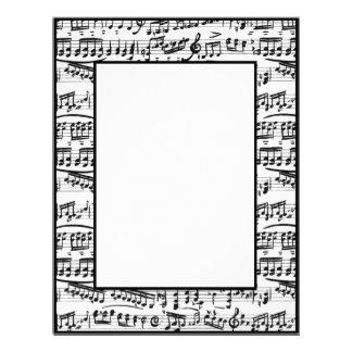 La música blanca negra observa el papel inmóvil membretes personalizados