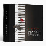 La música clásica de las lecciones de piano anota