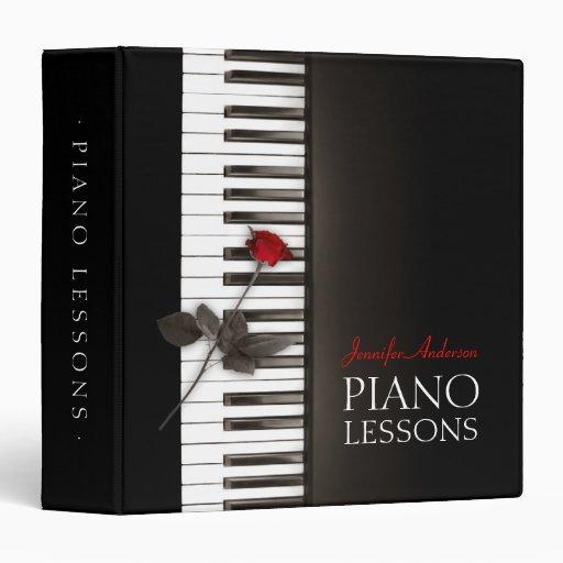 """La música clásica de las lecciones de piano anota carpeta 1 1/2"""""""