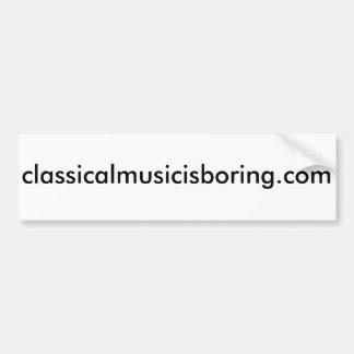 La música clásica es pegatina para el parachoques pegatina para auto