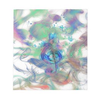 La música colorida fresca observa imagen de los ef blocs de papel
