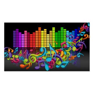 la música colorida observa brillante fresco de los tarjetas de visita