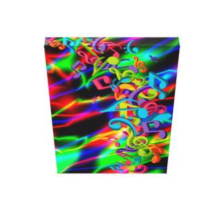 la música colorida observa el color de fondo brill impresión de lienzo