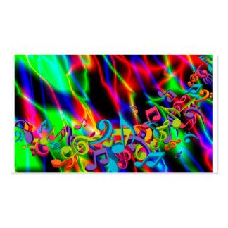 la música colorida observa el color de fondo brill tarjeta de visita
