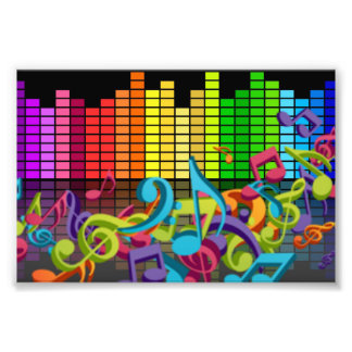 la música colorida observa sonidos del equalizador fotografía