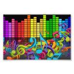 la música colorida observa sonidos del equalizador foto