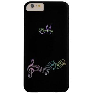 La música colorida personalizada observa el caso funda de iPhone 6 plus barely there