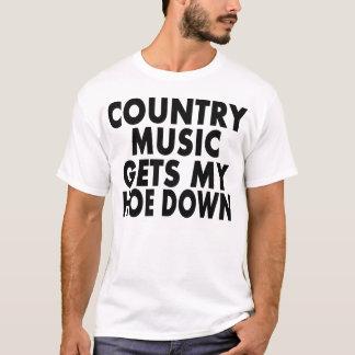 La música country consigue mi azada abajo -- playera