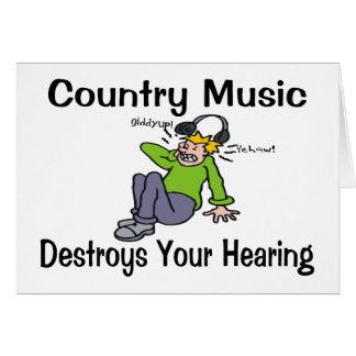 La música country destruye su audiencia tarjetón