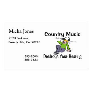 La música country destruye su audiencia plantillas de tarjeta de negocio