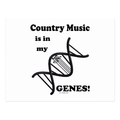 La música country está en mis genes postal