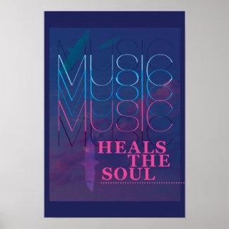 La música cura el alma, poster inspirado