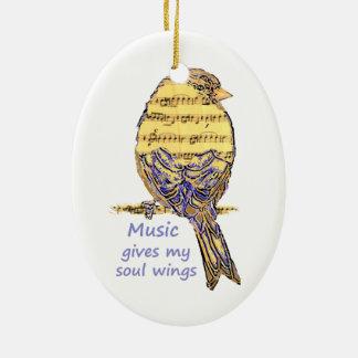 La música da mi cita de las alas del alma y arte ornamentos para reyes magos