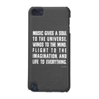 La música da un alma a la caja de iPod del univers