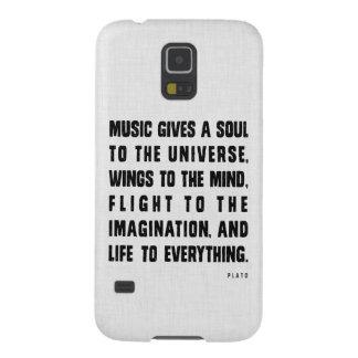 La música da un alma al caso de Samsung del univer Carcasas Para Galaxy S5