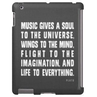 La música da un alma al caso del iPad del universo