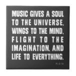 La música da un alma al universo azulejo ceramica