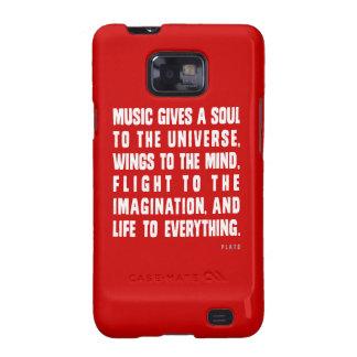 La música da un alma al universo galaxy SII funda