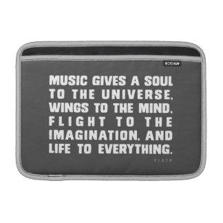 La música da un alma al universo funda  MacBook
