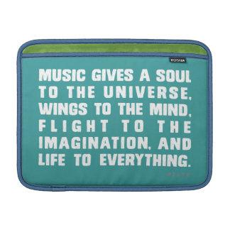 La música da un alma al universo funda macbook air